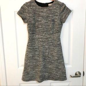 LOFT Gray Tweed Dress
